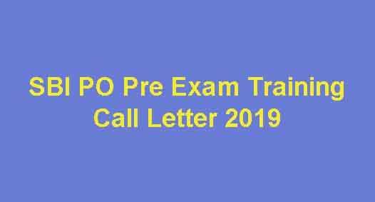 SBI PO Pre Exam Training Admit Card
