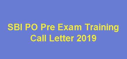 SBI PO Pre Exam Training Hall Ticket