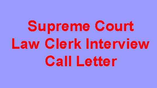 SCI Law Clerk Interview Call Letter