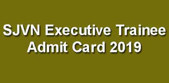 SJVNL Admit Card