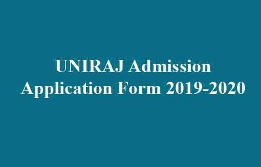 UNIRAJ Admission Application Form 2019-2020