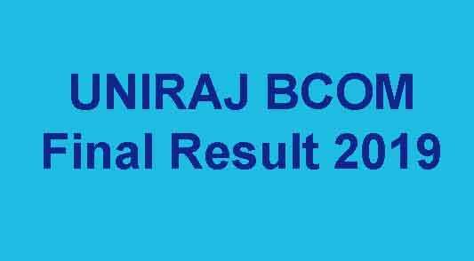 UNIRAJ BCOM 3rd Year Result 2019