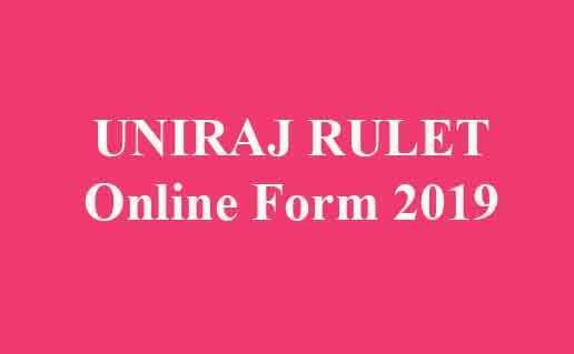 UNIRAJ RULET Online Form 2019