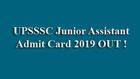 UPSSSC JA Admit Card