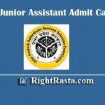 UPSSSC Junior Assistant Admit Card 2019 - Download UPSSSC JA Exam Hall Ticket @ upsssc.gov.in