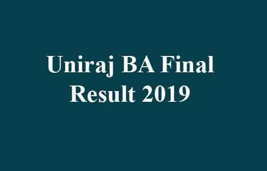Uniraj BA Final Result