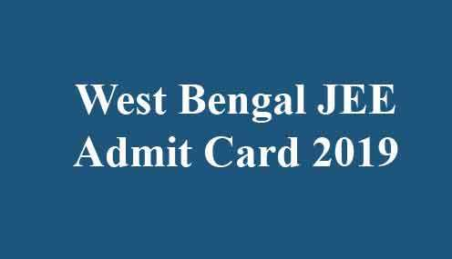 WB JEE Hall Ticket