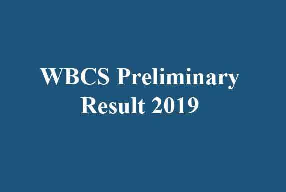 WBCS Preliminary Result