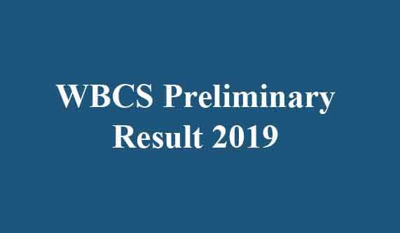 WBPSC Pre Exam Result 2019