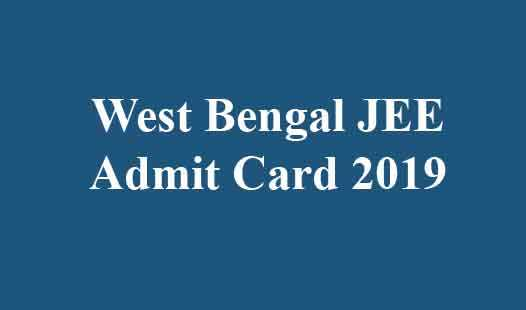 West Bengal JEE Admit Card