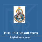 BHU PET Result 2020 (Out) - Download Banaras Hindu University PG Entrance Results