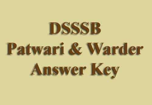 DSSSB Warder Answer Key 2019
