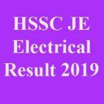 HSSC JE Electrical Result 2019