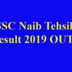 HSSC Naib Tehsildar Result 2019