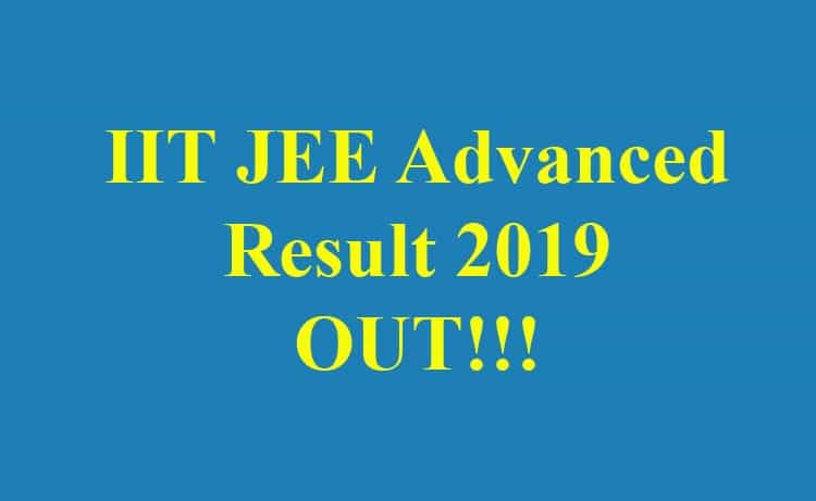 IIT JEE Advanced Result 2019