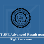 IIT JEE Advanced Result 2020 (Out) Download Advanced Admission Test Score Card
