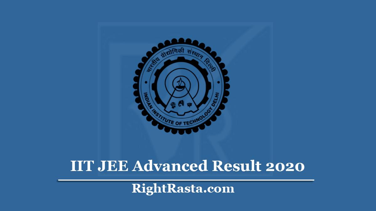 IIT JEE Advanced Result 2020