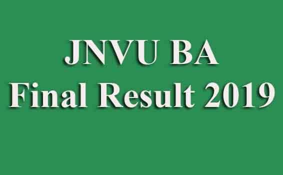 JNVU BA Final Result 2019