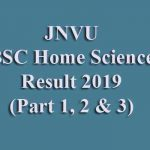 JNVU BSC Home Science Result 2019 [Part 1st, 2nd & 3rd]