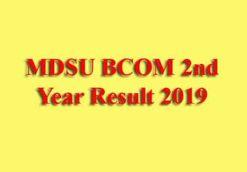 MDSU BCOM 2nd Year Result 2019