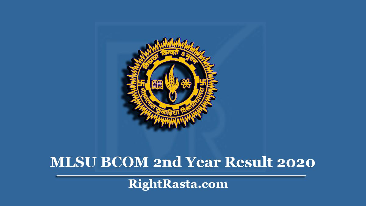 MLSU BCOM 2nd Year Result