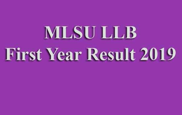 MLSU LLB First Year Result 2019