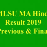 MLSU MA Hindi Result 2019 [Previous & Final Year Exam 2019]