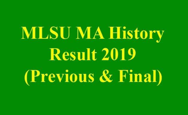 MLSU MA History Result 2019
