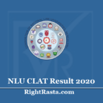 NLU CLAT Result 2020 (Out) - Download Common Law Admission Test Score Card