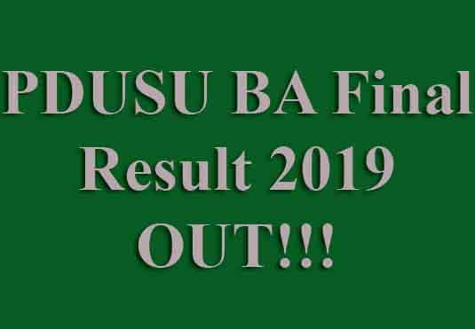 PDUSU BA 3rd Result 2019