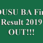 PDUSU BA Final Year Result 2019