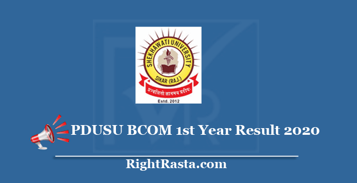 PDUSU BCOM 1st Year Result