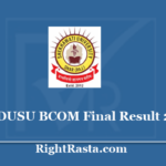 PDUSU BCOM Final Result 2020 - Download Shekhawati University B.Com 3rd Year Results