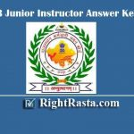 RSMSSB Junior Instructor Answer Key 2019 | Download Rajasthan Jr. Instructor Exam Key PDF