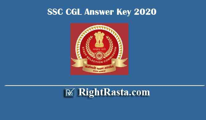 SSC CGL Answer Key 2020