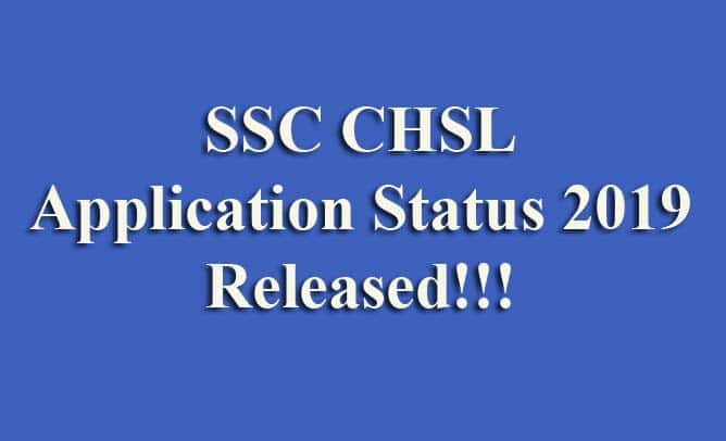 SSC CHSL Application Status 2019