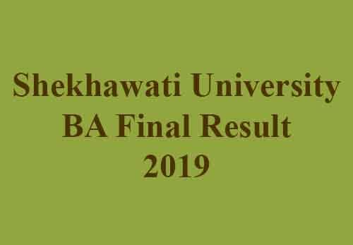 Shekhawati University Arts Result