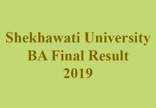 Shekhawati University BA 3rd Year Result