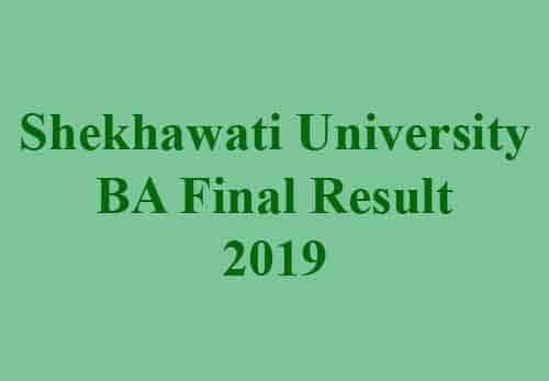 Shekhawati University BA Final Result 2019