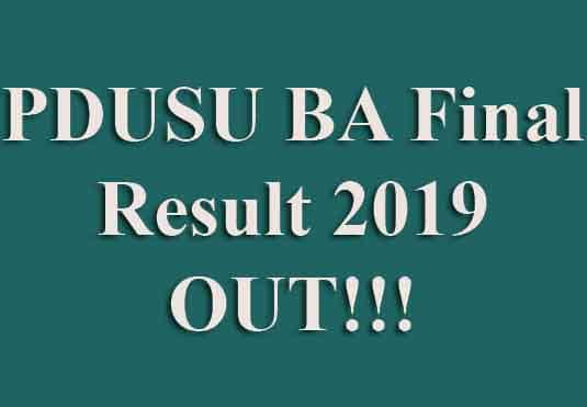 Shekhawati University BA Final Result 2019