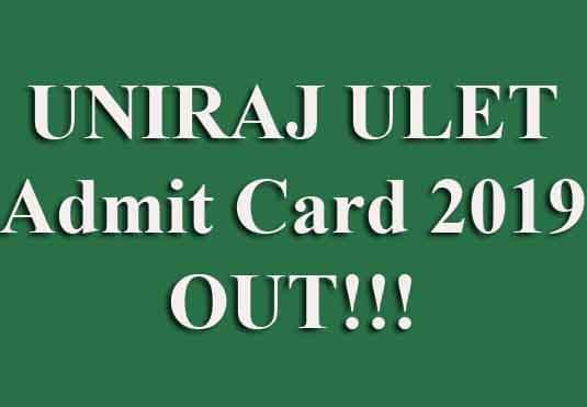 ULET Admit Card 2019