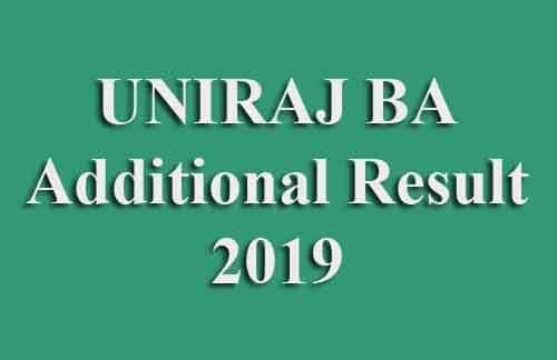 UNIRAJ BA Additional Result 2019