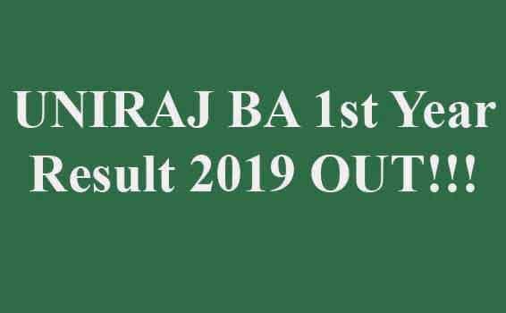 UNIRAJ BA First Year Result 2019
