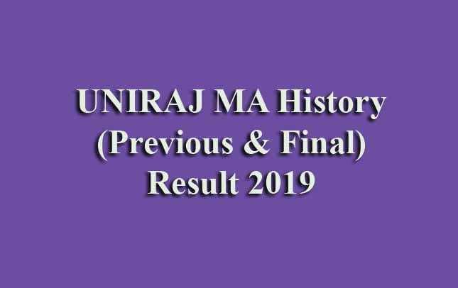 UNIRAJ MA History Previous Final Result 2019