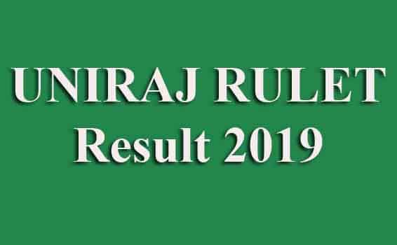 UNIRAJ RULET Result 2019