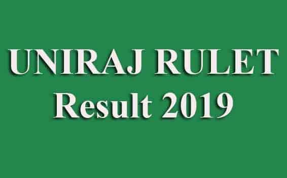 UNIRAJ RULET Result2019