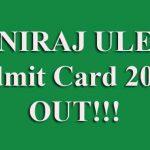 UNIRAJ ULET Admit Card 2019