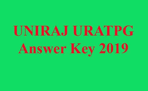 UNIRAJ URATPG Answer Key 2019