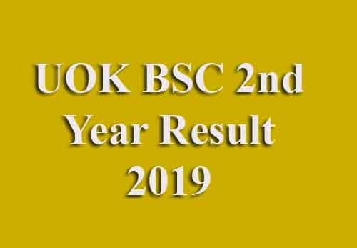 UOK BSC 2nd Year Result 2019