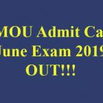 VMOU Admit Card June Exam 2019